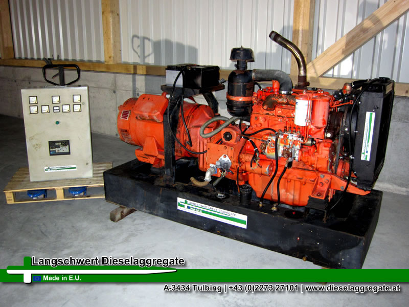 gebrauchter dieselgenerator iveco elcos 40kva 32kw 50hz 58a 400v notstromautomatik. Black Bedroom Furniture Sets. Home Design Ideas