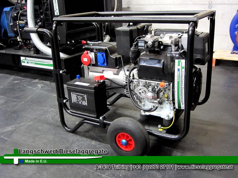 notstromaggregat diesel lombardini sll3010 10kva 8kw 50hz 14 5a 400v transportrollen. Black Bedroom Furniture Sets. Home Design Ideas