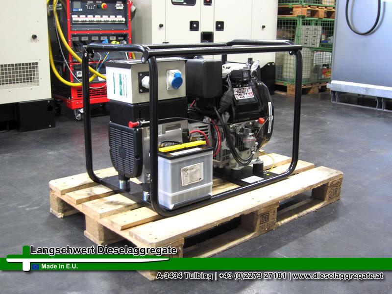 10kva 8kw ruggerini linz gebrauchter dieselgenerator. Black Bedroom Furniture Sets. Home Design Ideas